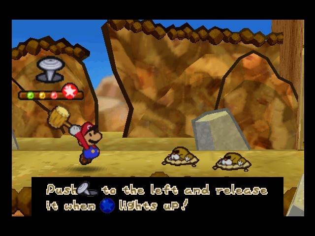 Paper Mario - Battle  - Stop! Hammer time! - User Screenshot